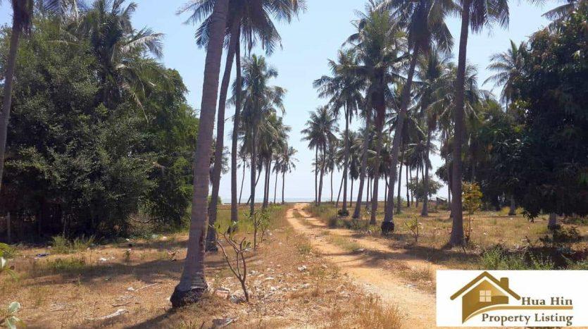 Beachfront land Kuiburi