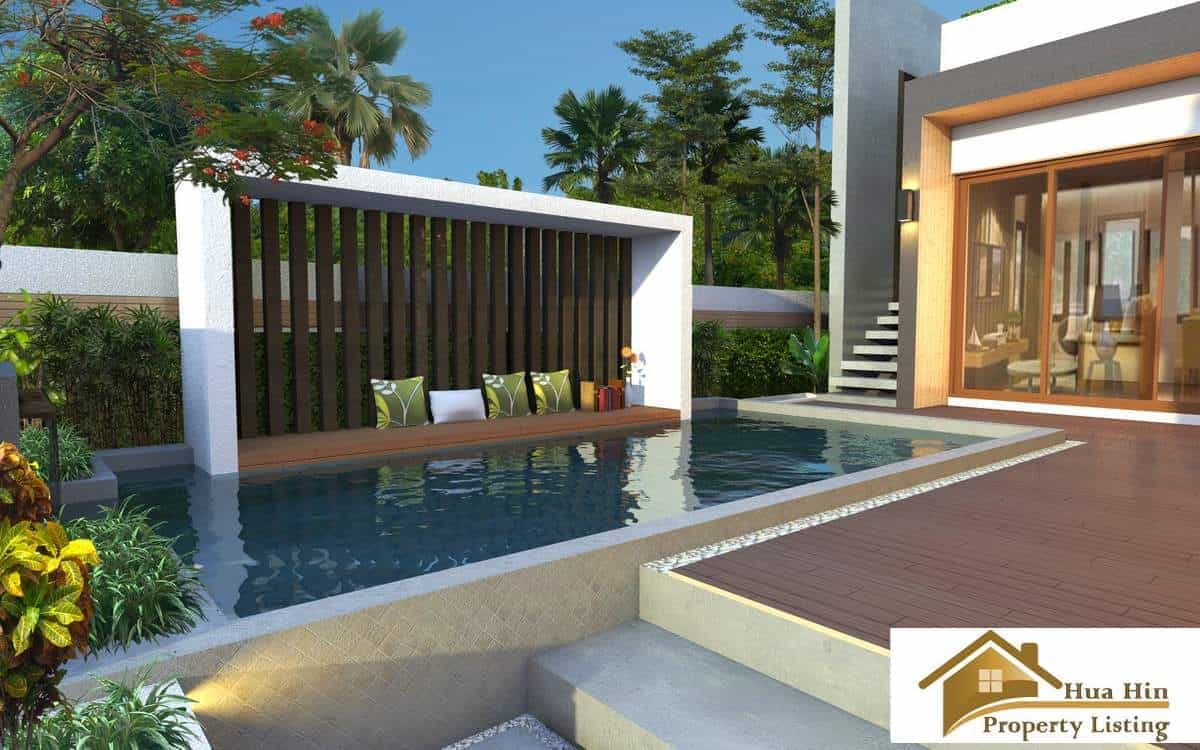 luxury 2 bed pool villa for sale hua hin