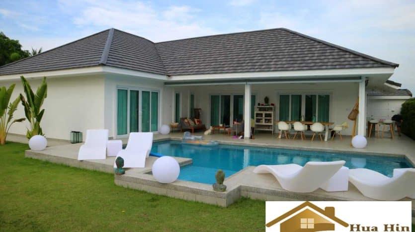 Modern 4 Bed Pool Villa For Sale In Khao Tao & Pranburi Area